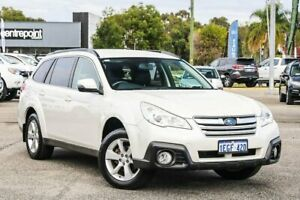 2013 Subaru Outback B5A MY13 2.5i Lineartronic AWD White 6 Speed Constant Variable Wagon