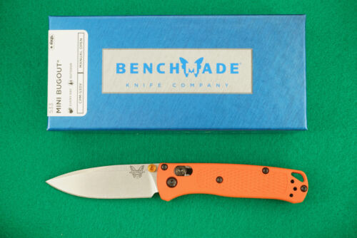 BENCHMADE 533 MINI BUGOUT. CPM-S30V, AXIS LOCK, ORANGE HANDLE