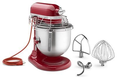 KitchenAid KSMC895ER Bowl Guard Commercial Mixer 8 Qt NSF 1.3HP Empire Red