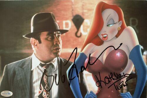 Bob Hoskins and Kathleen Turner signed 10x8 photo UACC RACC AFTAL. ACOA COA