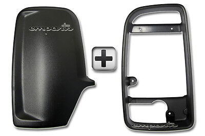 VW Crafter Wing Mirror Black Back Casing Cover + Inner Bezel Frame Left Side N/S