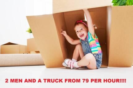 Moving Sale $79/hr Truck & 2 Men. No Min billing No Depot Charges