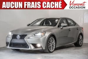2014 Lexus IS 250 2014+PREMIUM+CUIR+NAV+TOIT+CAMERA RECUL ONE OW