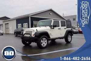 2008 Jeep Wrangler X UNLIMITED 4X4 A/C CRUISE TOIT RIGIDE
