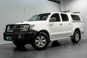 2010 Toyota Hilux KUN26R MY11 Upgrade SR5 (4x4) White 4 Speed Automatic Dual Cab Pick-up
