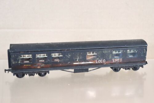 HORNBY DUBLO RE PAINTED WEATHERED BR LOCO SHED ENGINEERS COACH W9372 nx