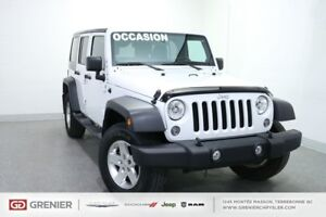 2014 Jeep Wrangler Unlimited 4 door UNLIMITED+DÉMARREUR+TOIT DUR
