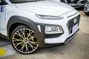 2019 Hyundai Kona OS.3 MY20 Active 2WD White 6 Speed Sports Automatic Wagon