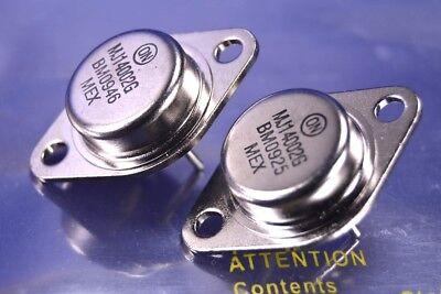 2 On Semiconductor Npn Power Transistors 60A   80V P N  Mj14002g 300 Watts Each