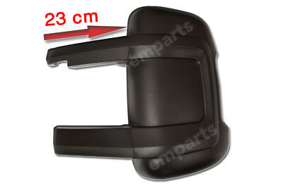 FIAT DUCATO CITROEN RELAY Door Mirror Casing Cover BLACK LONG ARM Left NS 2006