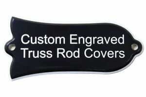 Custom engraved Truss Rod Cover fits most Gibson guitars Les Paul, SG and etc.