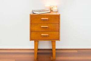 2 x Bedside Tables Retro Danish mid-century inspired vintage Eames style