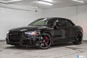2015 Audi RS 5 CAB BLACK OPTICS, SPORT EXHAUST, RED CALIPER.