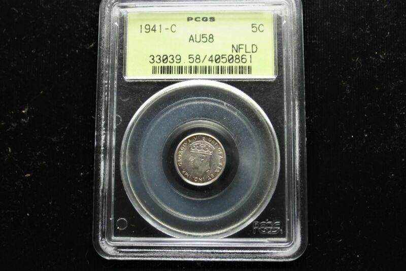 1941-C Newfoundland 5 cent   AU-58