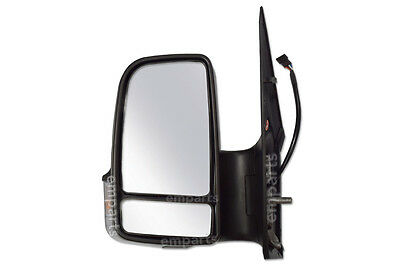 VW Crafter Full Door Wing Mirror Manual Black Short Arm N/S 2006 2018