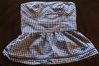 Plaid Strapless Tops for Women