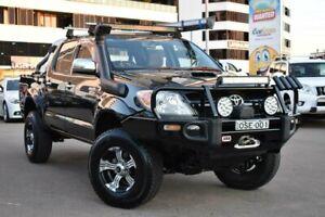 2008 Toyota Hilux KUN26R MY08 SR5 Utility Dual Cab 4dr Auto 4sp, 4x4 945kg 3.0 Black Automatic