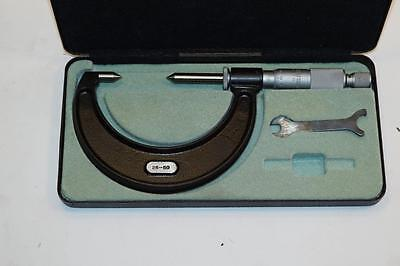 Nos Moore Wright 25-50mm Point Micrometer Made In England .01mm Graduations