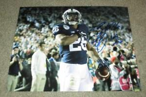 SAQUON BARKLEY AUTOGRAPHED PENN STATE NITTANY LIONS 8X10 PHOTO (PROOF)NFL DRAFT