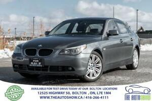 2006 BMW 5 Series 525' Gas Saver Low Km's Certified Clean