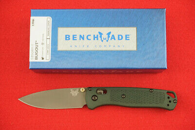 BENCHMADE 535GRY-1 BUGOUT KNIFE CPM-S30V DARK GREEN HANDLES PVD COATED BLADE NEW