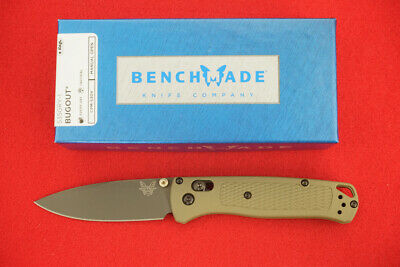 BENCHMADE 535GRY-1 BUGOUT PLAIN EDGE CPM-S30V EDC ULTRALIGHT HIKING KNIFE
