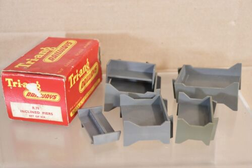 TRIANG R79 SET of 6 INCLINED PIERS for SERIES 2 TRACK nw