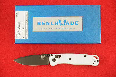 BENCHMADE 533BK-1 MINI BUGOUT, CPM-S30V, AXIS LOCK, WHITE HANDLE