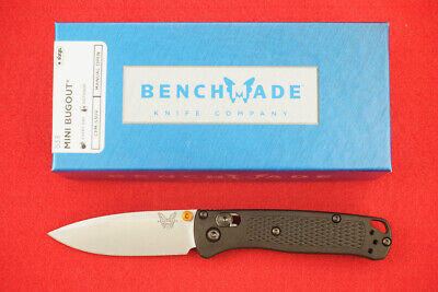 BENCHMADE 533 MINI BUGOUT, CPM-S30V, AXIS LOCK, CUSTOM BLACK HANDLE, NEW