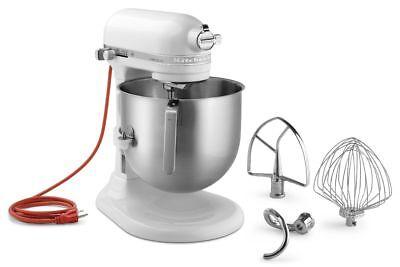 KitchenAid KSM8990WH Commercial 8-Qt Bowl Lift NSF Stand Mixer 1.3HP White