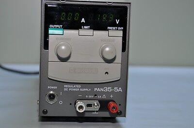 Kikusui Regulated Dc Power Supply Pan35-5a 035v 05a