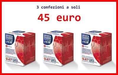COLESTEROL ACT PLUS 3 confezioni 60 cpr Riso Rosso Fermentato Monacolina K10 mg