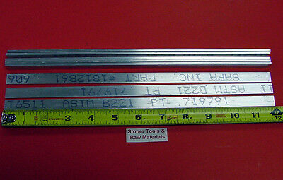 8 Pieces 18 X 12 Aluminum 6061 T6511 Flat Bar 12 Long .125 New Mill Stock