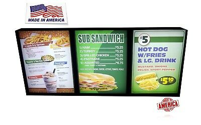 Restaurant Menu Displaysmenu Boardsfast Foodrestaurant H24x54x1.75
