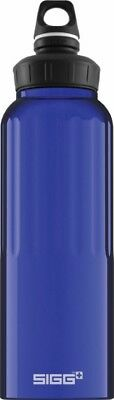 Sigg - Wide Mouth Bottle Traveller Dark Blue - 1.5L- Aluminum Water Bottle Aluminum Wide Mouth Bottle