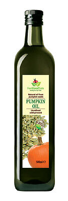 500ml Pure Pumpkin Seed Oil 100% Natural Raw Cold Pressed Unrefined