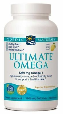 Nordic Naturals Ultimate Omega - Omega 3 - Lemon taste - 120ct (60x2) - 1000mg