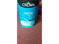 crown blue matt paint, 5 litre