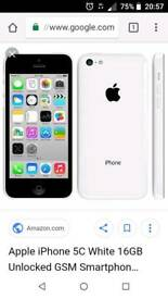 Iphone 5c in White.