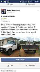 1987 Nissan Patrol Ute Other Sunlands Loxton Waikerie Preview