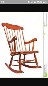 Wooden Rocking chair / nursing chair