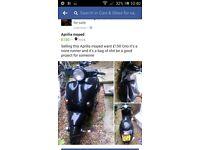 None running moped