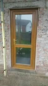 Light Oak 7 Windows &2 Doors bevelled fanlights