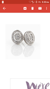 10ct White Gold Diamond Studs Moree Moree Plains Preview