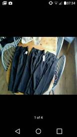 Black girls x3 school trousers new with tags & adjustable waist.