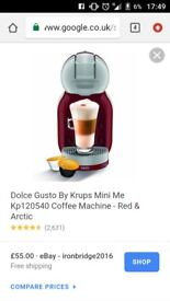 Red dolce gusto coffee maker. Can Deliver