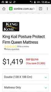 KING KOIL NEW MATTERESS Airds Campbelltown Area Preview