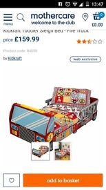 Fire engine Toddler bed