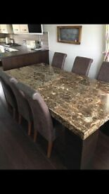 BARKER AND STONEHOUSE MARBEL TABLE