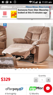$350 FOR TWO BRAND NEW RECLINERS